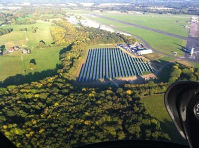 Solar array at Dunsfold Aerodrome