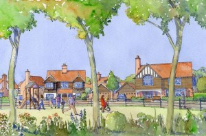 Berkeley's artists impression of its upmarket houses, but could they get insurance against flood risk?